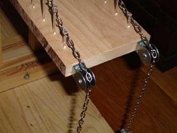 tpe ponts suspendus structure cas de la maquette. Black Bedroom Furniture Sets. Home Design Ideas
